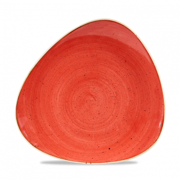 Churchill Stonecast Berry Red Triangle Plate 26.5cm