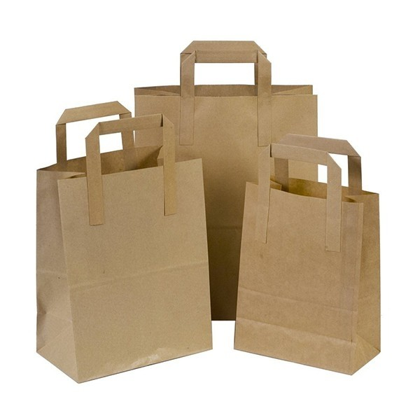 SOS Pure Kraft Carrier Bags Small