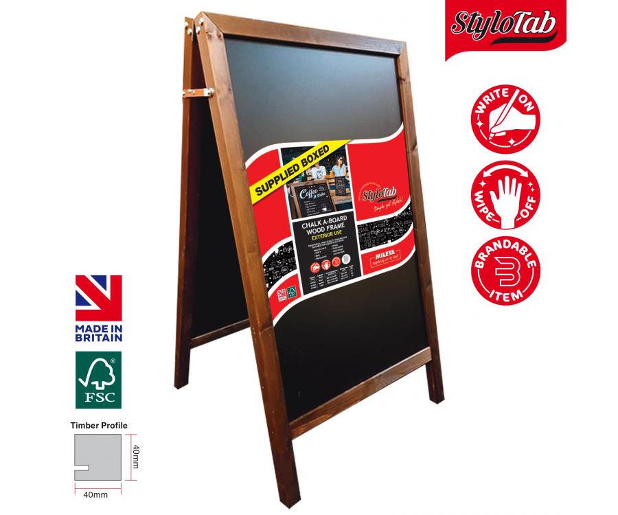 Wood Frame Blackboard A-Board Exterior Use Medium