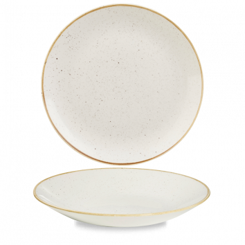 Churchill Stonecast Deep Coupe Plate Barley White 25.5cm