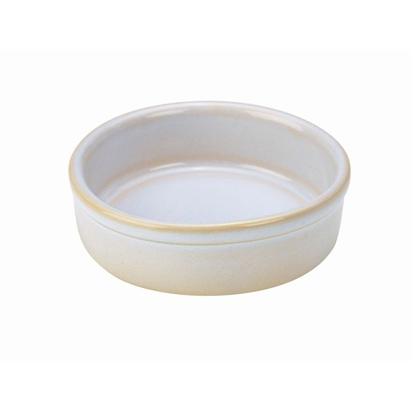 Terra Stoneware Tapas Dishes Rustic White 10cm