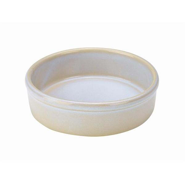 Terra Stoneware Tapas Dishes Rustic White 13cm