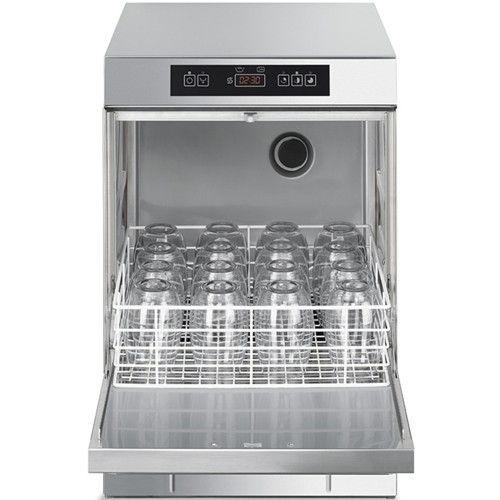 Smeg Ecoline Professional Glasswasher,400mm Basket, with Integral Water Softener