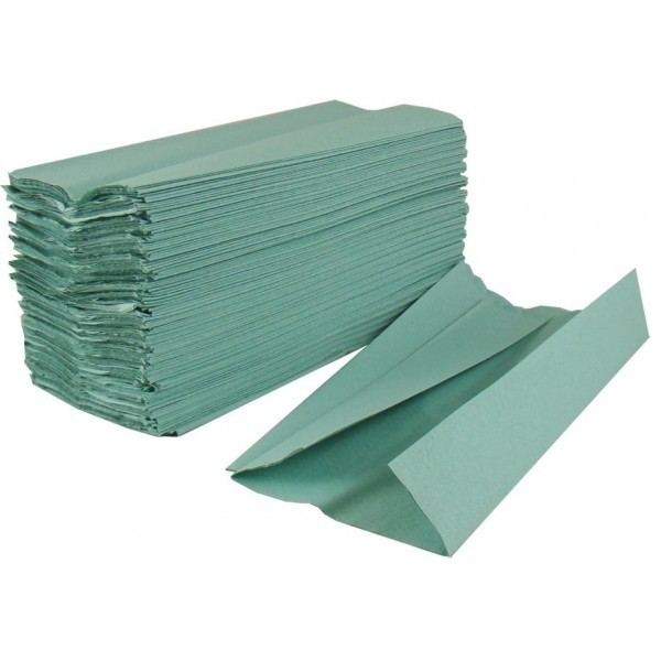 C Fold Paper Hand Towels Green 1 Ply