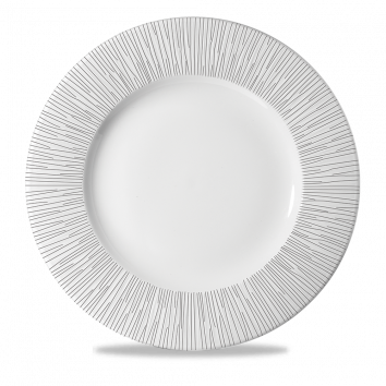 Churchill Bamboo Wide Rim Plate White 30.5cm
