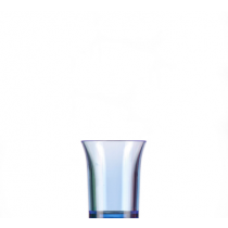 Econ Neon Blue Reusable Polystyrene Shot Glasses CE 25ml