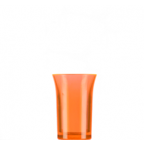 Econ Neon Orange Reusable Polystyrene Shot Glasses CE 35ml