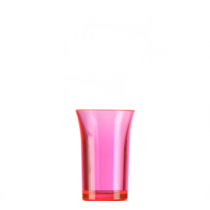 Econ Neon Red Reusable Polystyrene Shot Glasses CE 35ml