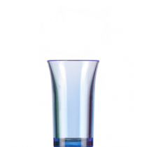 Econ Neon Blue Reusable Polystyrene Shot Glasses CE 50ml