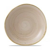 Churchill Stonecast Nutmeg Cream Organic Round Plate 18.6cm