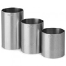 Stainless Steel Thimble Bar Measures 3 Piece Set