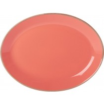 Porcelite Seasons Coral Oval Plate 30cm