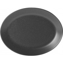 Porcelite Seasons Graphite Oval Plate 30 x 23cm