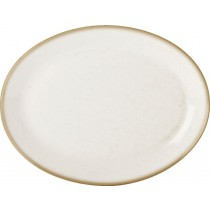 Porcelite Seasons Oatmeal Oval Plate 30 x 23cm