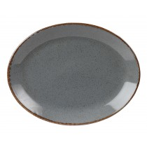 Porcelite Seasons Storm Oval Plate 30 x 23cm