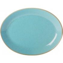 Porcelite Seasons Sea Spray Oval Plate 30cm