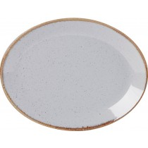 Porcelite Seasons Stone Oval Plate 30cm
