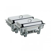 Stainless Steel Twin Pack 1/1 Economy Chafing Dish