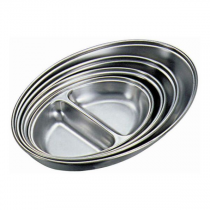 Stainless Steel 2 Division Vegetable Dish 20cm