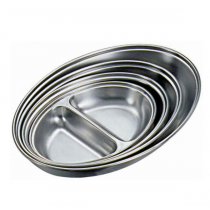 Stainless Steel 2 Division Vegetable Dish 25cm