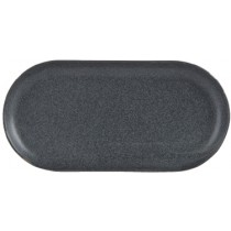 Porcelite Seasons Graphite Narrow Oval Plate 30 x 15cm
