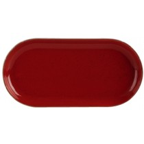 Porcelite Seasons Magma Narrow Oval Plate 30 x 15cm