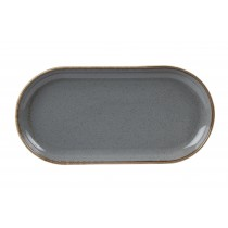 Porcelite Seasons Storm Narrow Oval Plate 30 x 15cm