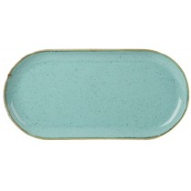 Porcelite Seasons Sea Spray Narrow Oval Plate 30 x 15cm