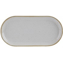 Porcelite Seasons Stone Narrow Oval Plate 32 x 20cm