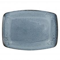 Porcelite Aura Glacier Rectangular Plate 27cm