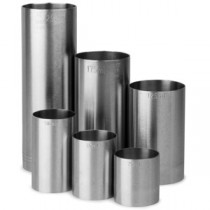 Stainless Steel Thimble Bar Measures 6 Piece Set