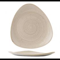 Churchill Stonecast Nutmeg Cream Triangle Plate 22.9cm