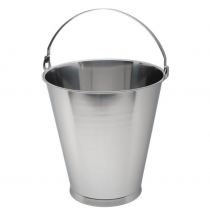 Swedish Skirted Stainless Steel Bucket 12ltr