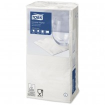 Tork White Cocktail Napkins 24cm