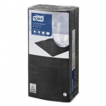 Tork Black Cocktail Napkins 24cm