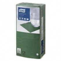 Tork Dark Green Cocktail Napkins 24cm