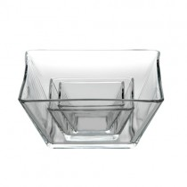 23cm Tempo Square Glass Bowl
