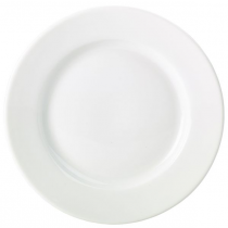 Royal Genware Porcelain Classic Winged Plates White 17cm