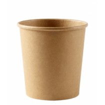 Disposable Kraft Heavy Duty Soup Containers 16oz / 500ml
