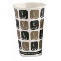 Cafe Mocha Disposable Hot Drink Cup 16oz / 453ml