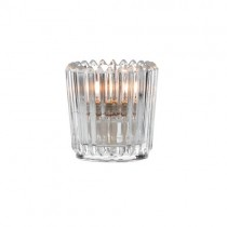 Clear Ribbed Votive Candle Holders