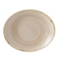 Churchill Stonecast Nutmeg Cream Oval Coupe Plate 19.2cm