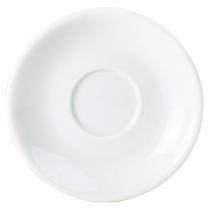 Royal Genware White Porcelain 12cm Saucer for Bowl Shaped Cup 9cl/3oz