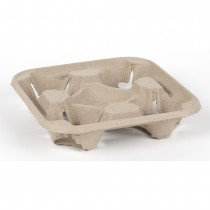 Biodegradable 4 Cup Carry Tray