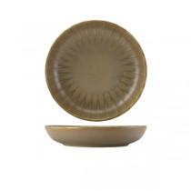 Terra Porcelain Matt Grey Scalloped Coupe Bowl 22.8cm