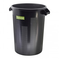 Black Dust Bin 100L
