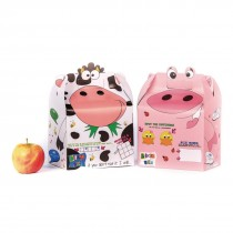 Crafti's Bizzi Kids Boxes Assorted Farm Animals Cow and Pig