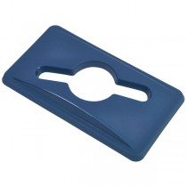 Blue Paper Lid For Grey Slim Recycling Bin
