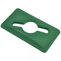 Green Glass Lid For Grey Slim Recycling Bin