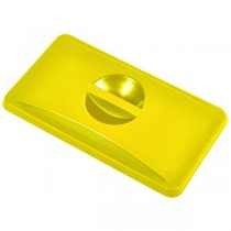 Yellow Closed Lid For Grey Slim Recycling Bin